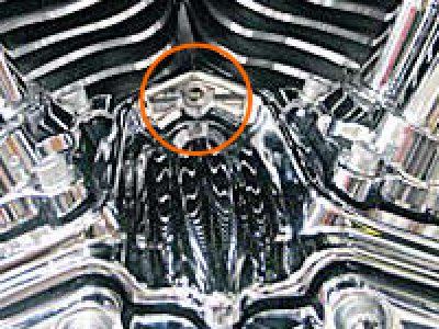 Kuryakyn8389:タペットブロックアクセント(ハーレーTWIN-CAMエンジン)